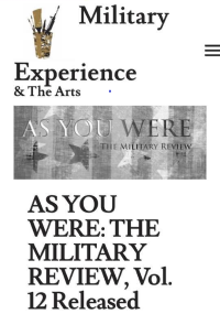 As You Were The Military Review